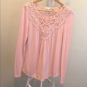 Anthropologie Meadow Rue bobbin lace top